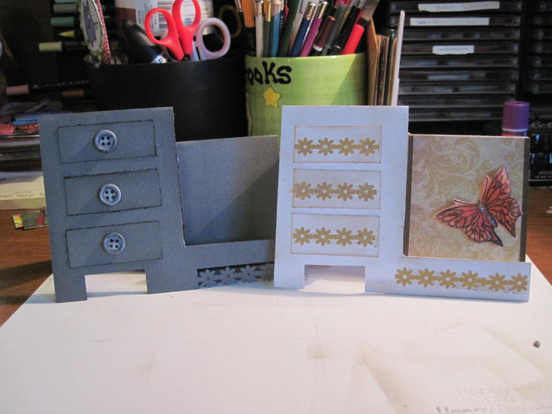 Side step drawer card inspired by pinterest