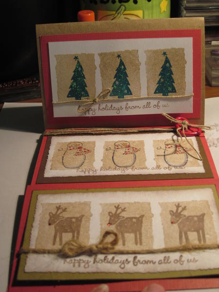 Set of Christmas Cards for Virtual Christmas card swap