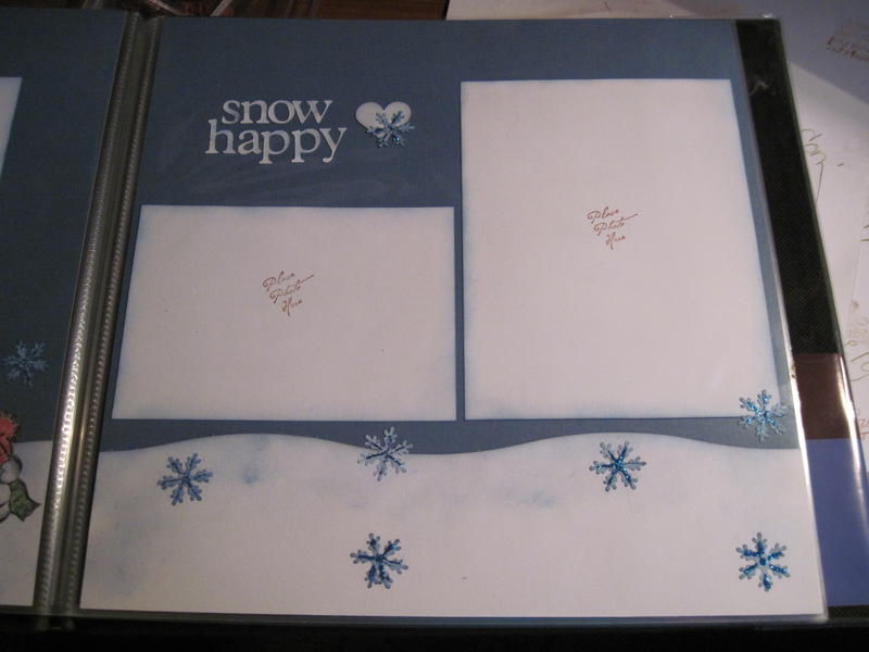 Snow happy page 2 layout