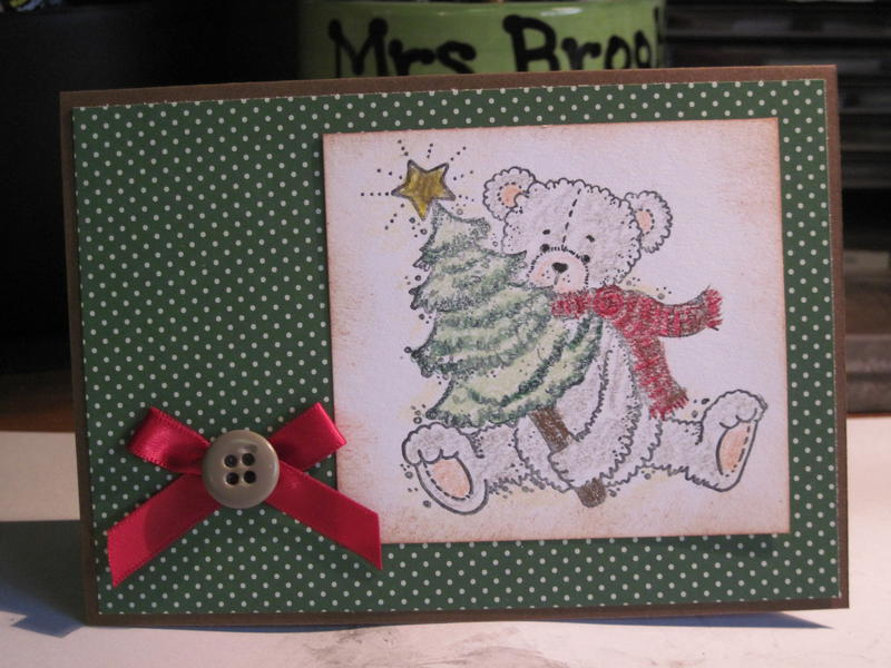 Christmas card  inspired by Pinterest