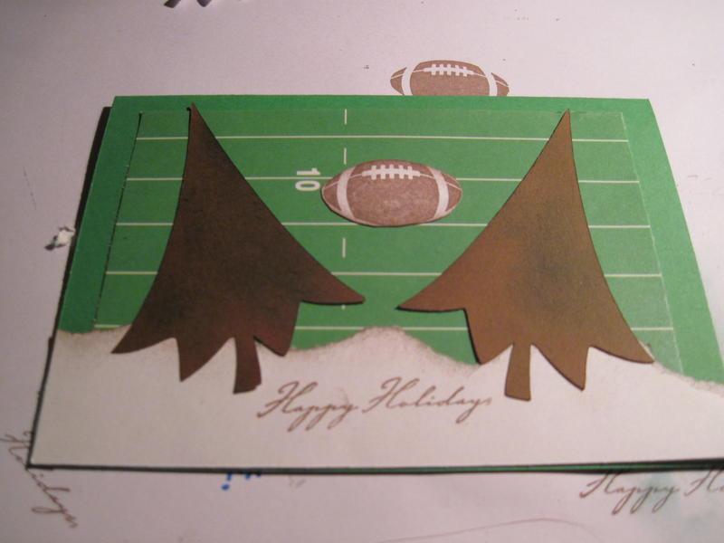 Christmas card that my nephew designed and I helped him make.