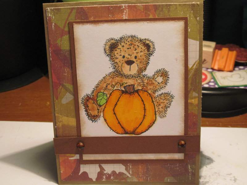fall Card for October Card Challenge (color)