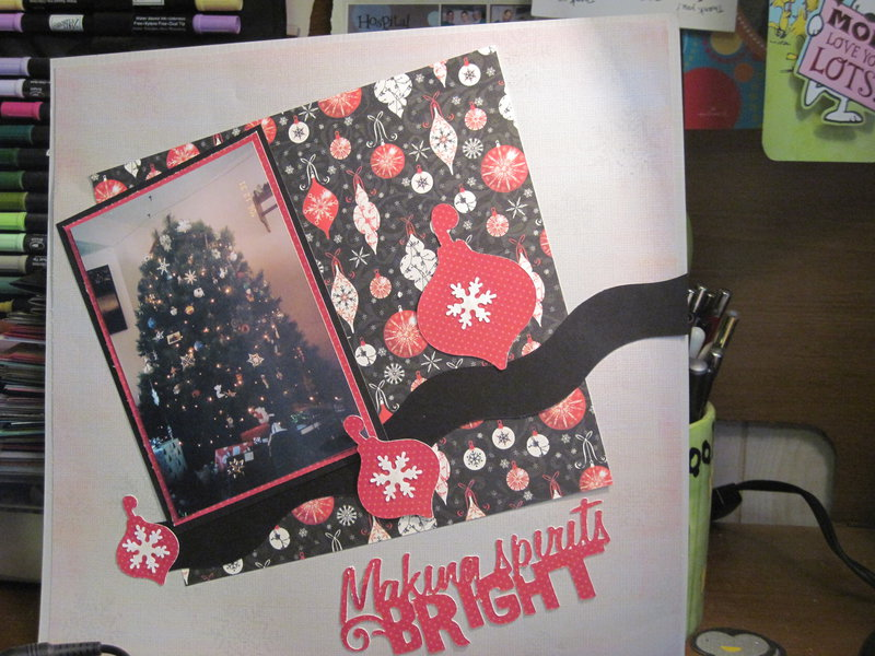 Christmas layout for Scrap the Person before you challenge
