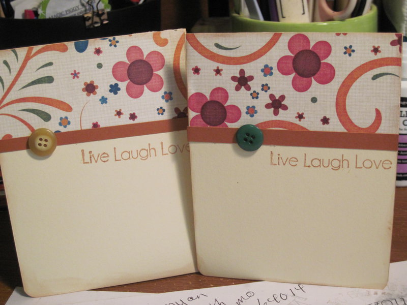 Live Love and laugh card