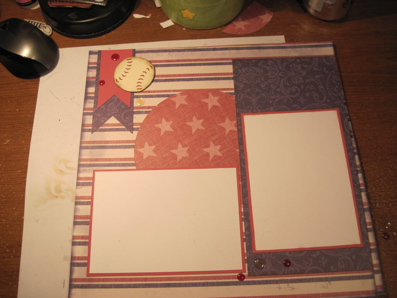 Patriotic softball/baseball layout