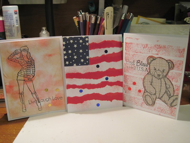 Red White and Blue cards