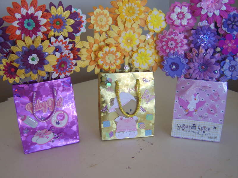 Handmade paper flower bags for babies