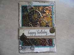 Pocket Watch Birthday Card