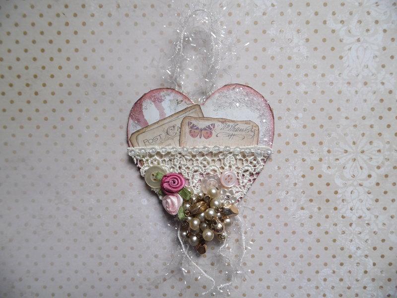 Vintage Heart Hanging