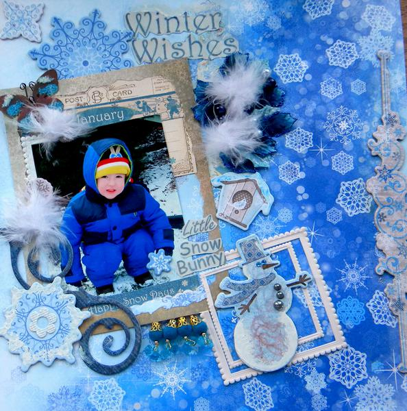 *Scraps of Elegance* Winter Wishes* Little Snow Bunny*