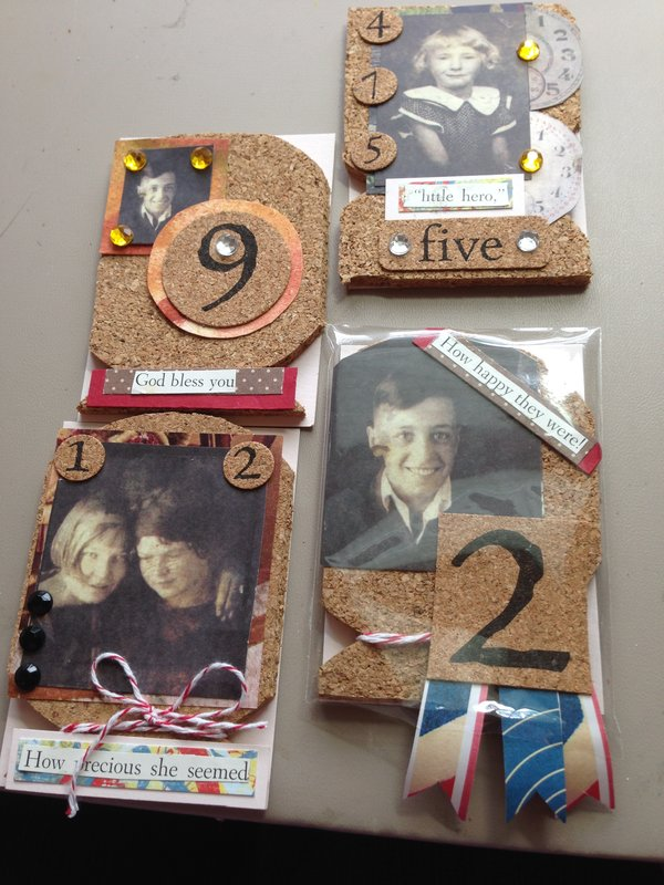 Use cork in on a card
