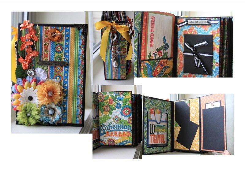Bohemian Bazaar Vertical Paper Bag Mini