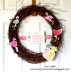 Be A Flamingo Wreath