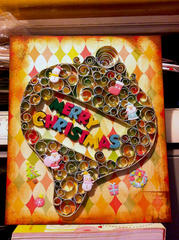 paper quilling christmas card~(1)