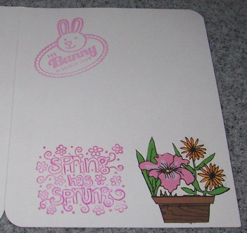 Easter's On It's Way (inside)