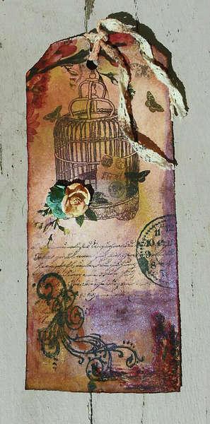 Vintage Birdcage Tag