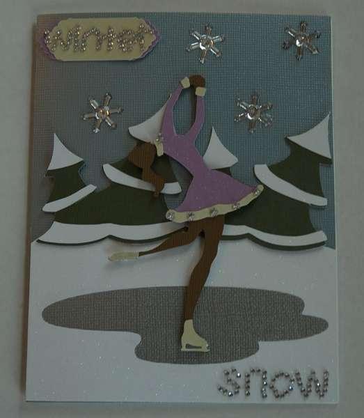 Winter Snow Card