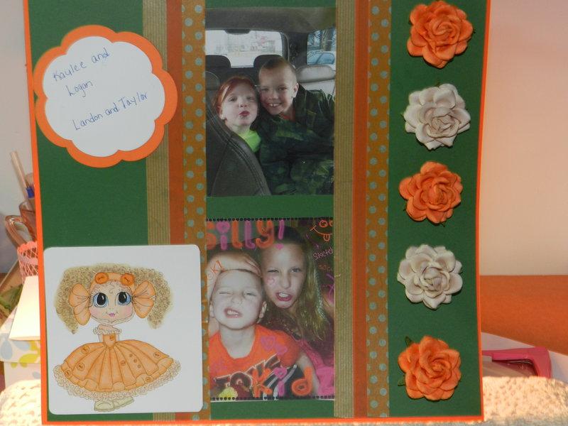 Scrapbook Page in Orange