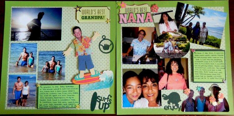 Worlds Best Grandpa & Nana