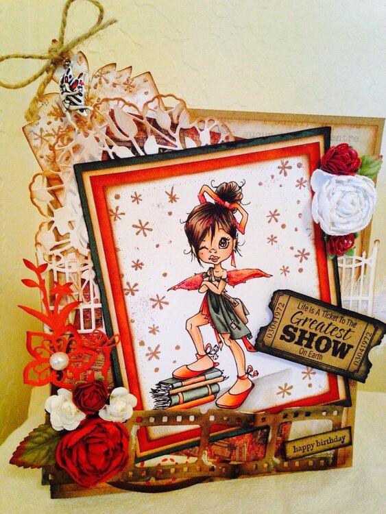Happy Birthday pixie nerd card