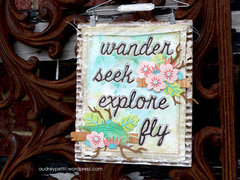 Wander, Seek, Explore, Fly Wall Hanging