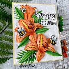 Birthday Card with Shaped Flowers