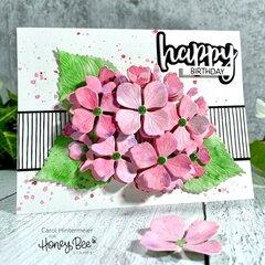 Hydrangea card and treat box
