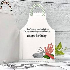 Gardening Apron Shaped birthday card