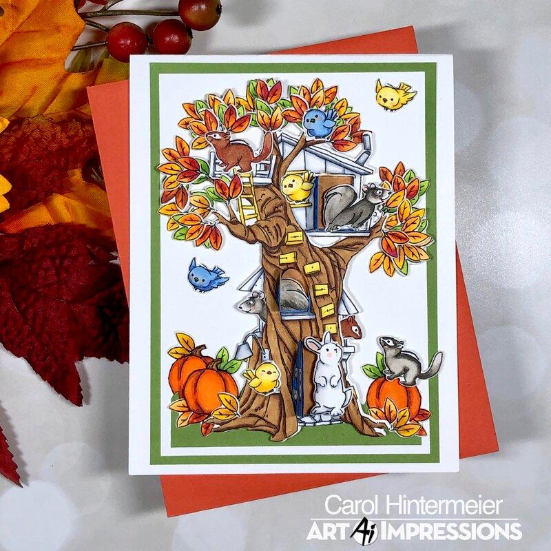 Autumn Woodland Tree Cubbies
