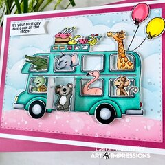 Birthday card--Bus Cubbies