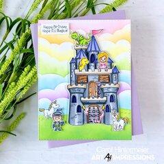 Castle Cubbies & Rainbow Clouds birthday card