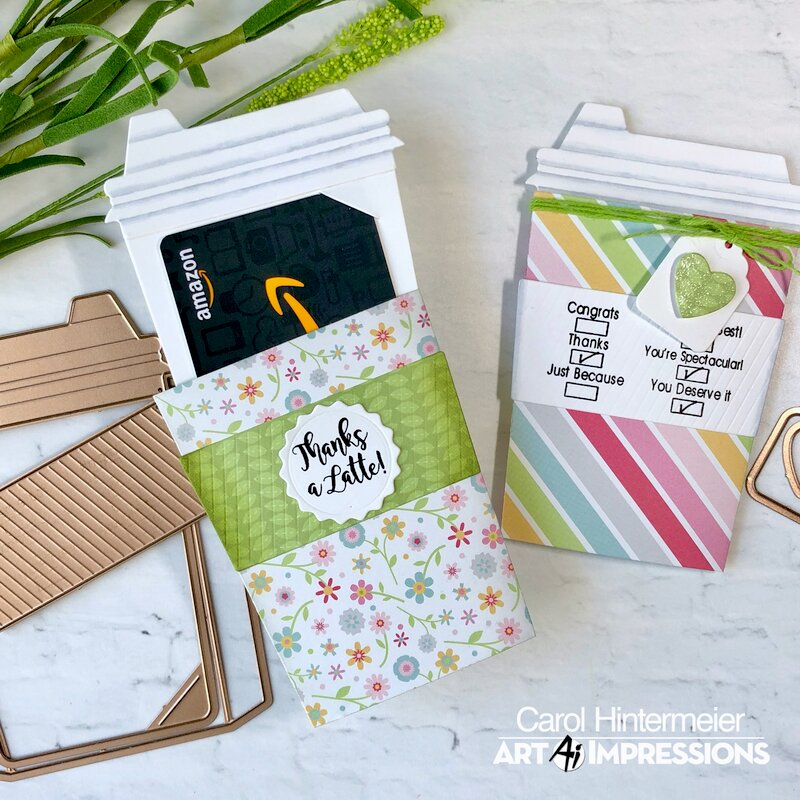 Coffee Cup Gift Card Holders