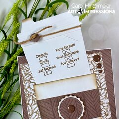 Coffee Cup Gift Card Holder for the Guys!