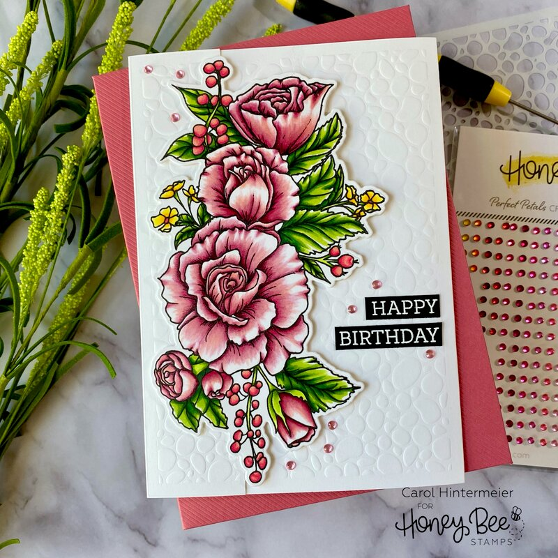 Partial die cutting Birthday card