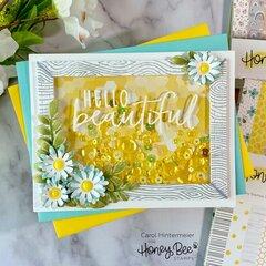 Hello Beautiful - a shaker card