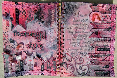 Art Journal (Pages 4 and 5)- Swirlydoos UDC Week #5