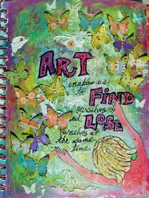 Art Journal (Page 1)- Swirlydoos UDC Week #5