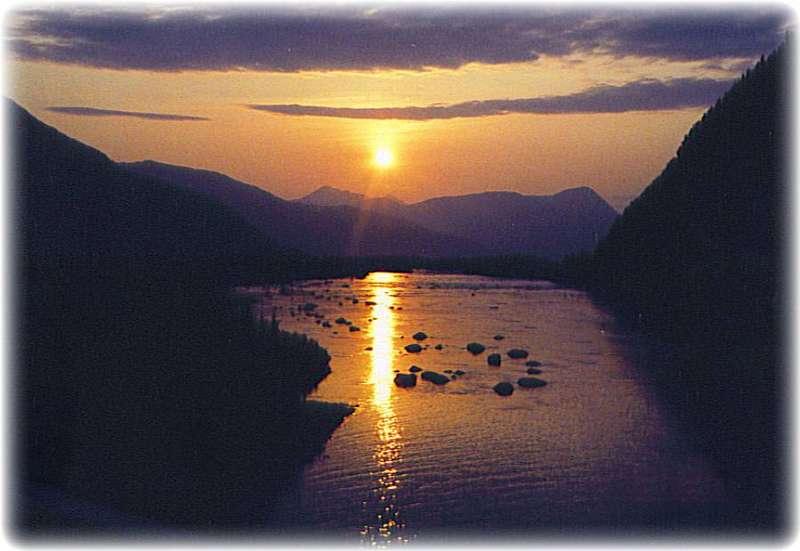 Alaskan Sunsets ~ Sunset Over Portage Creek