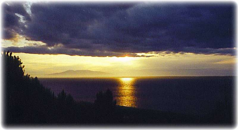 Alaskan Sunsets ~ Sunset Over Sleeping Lady
