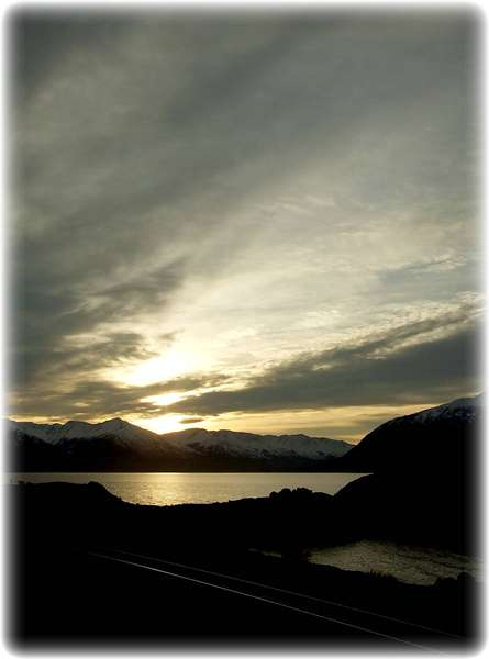 Nov 30 ~ Morning Sun from Beluga Point