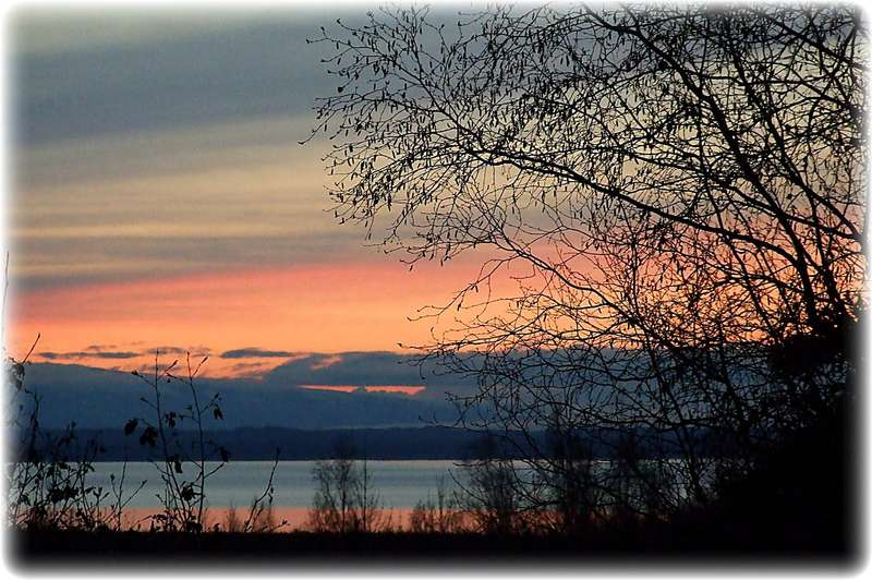 Oct 20 ~ Sunset's Glow over Cook Inlet