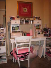 Scrap desk and storage