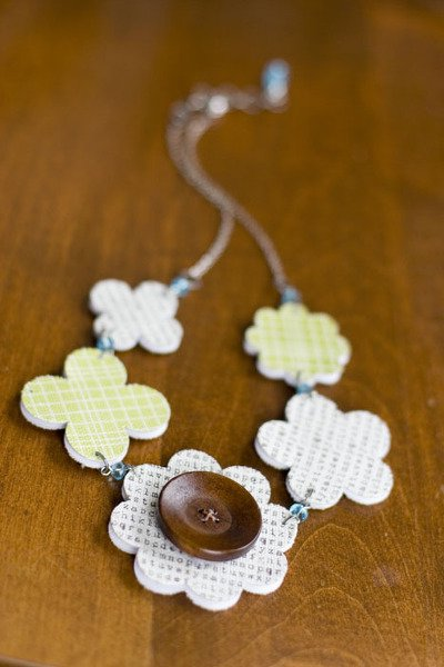 Canvas Flower Necklace