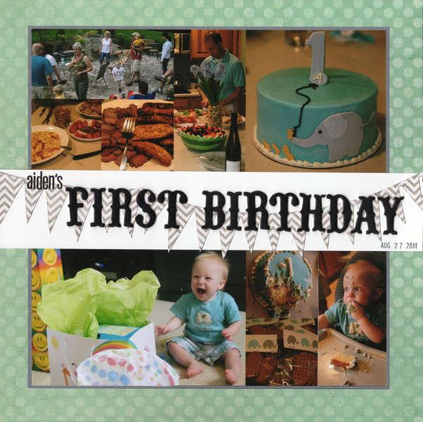 Aiden's First Birthday