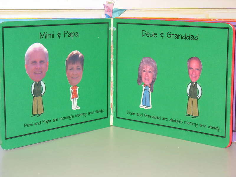 Family Book - Altered Board Book - Pages 3 & 4