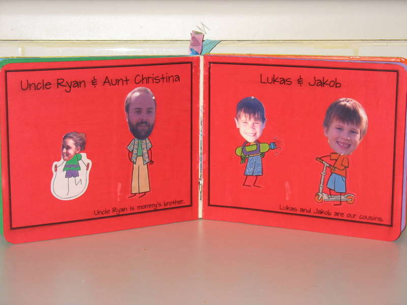 Family Book - Altered Board Book - Pages 5 & 6