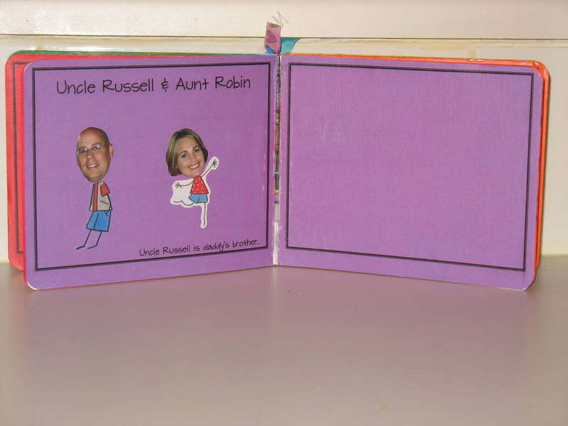 Family Book - Altered Board Book - Pages 7 & 8