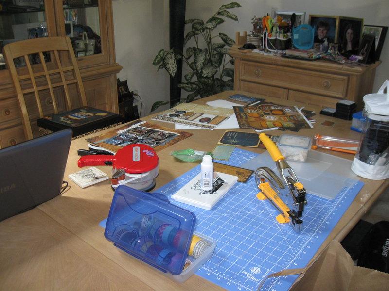 My messy scraproom on NSD 2013