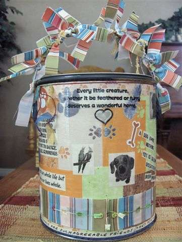 altered paint can pet theme