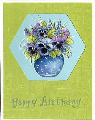 3-D Decoupage Birthday Card